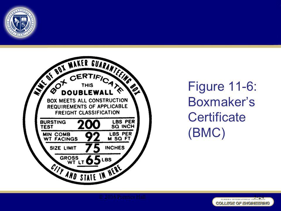 Figure 11-6: Boxmaker's Certificate (BMC) © 2008 Prentice Hall5-24