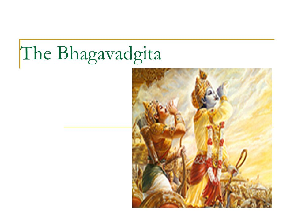 The setting of the Gita The setting of the Gita is symbolic of the battlefield of life, but more importantly, it is symbolic of the battlefield within all of us.
