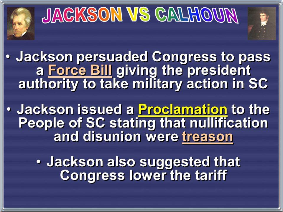 John C.Calhoun, resigns as VP because of the Eaton Affair and Tariff of 1828John C.