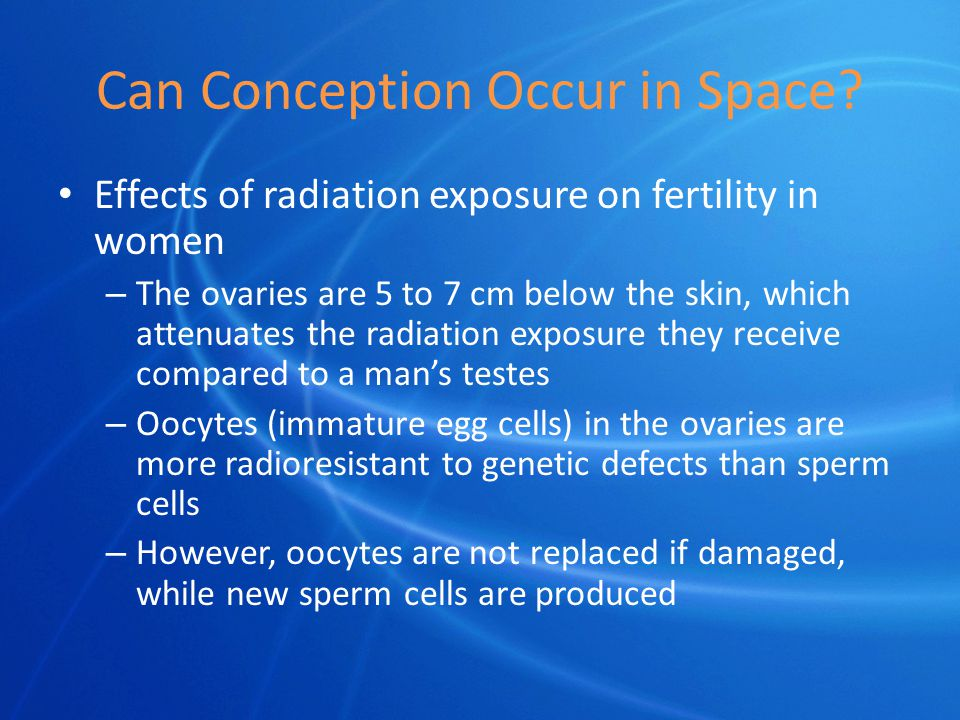 Can Conception Occur in Space.