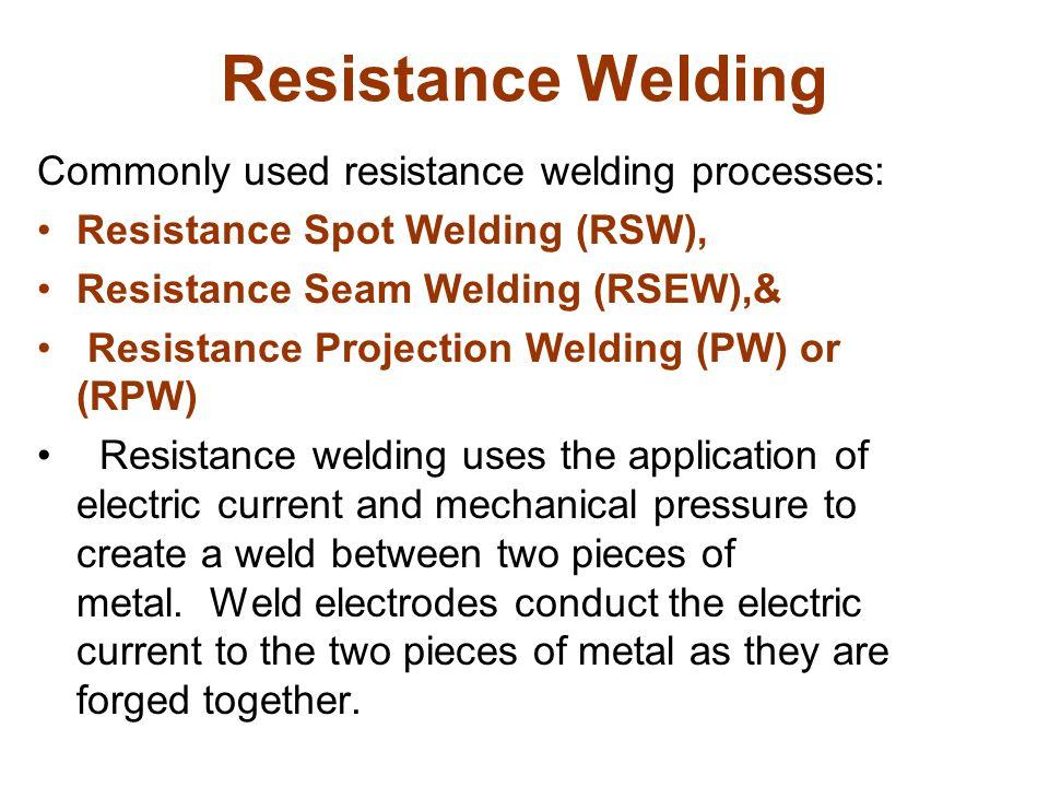 RESISTANCE STUD WELDING
