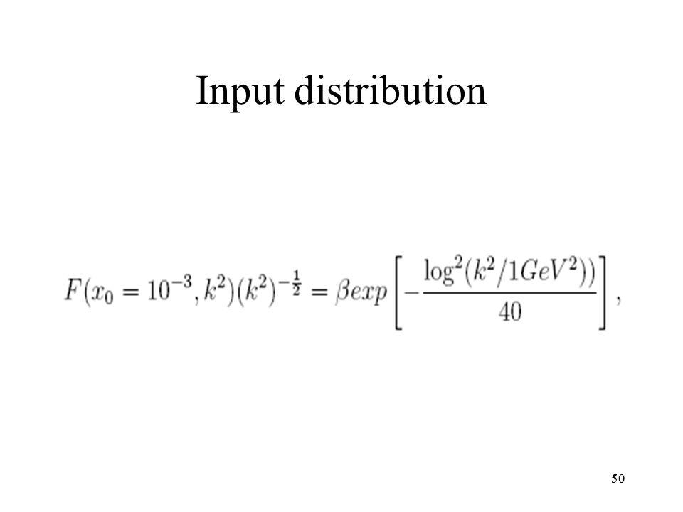 50 Input distribution