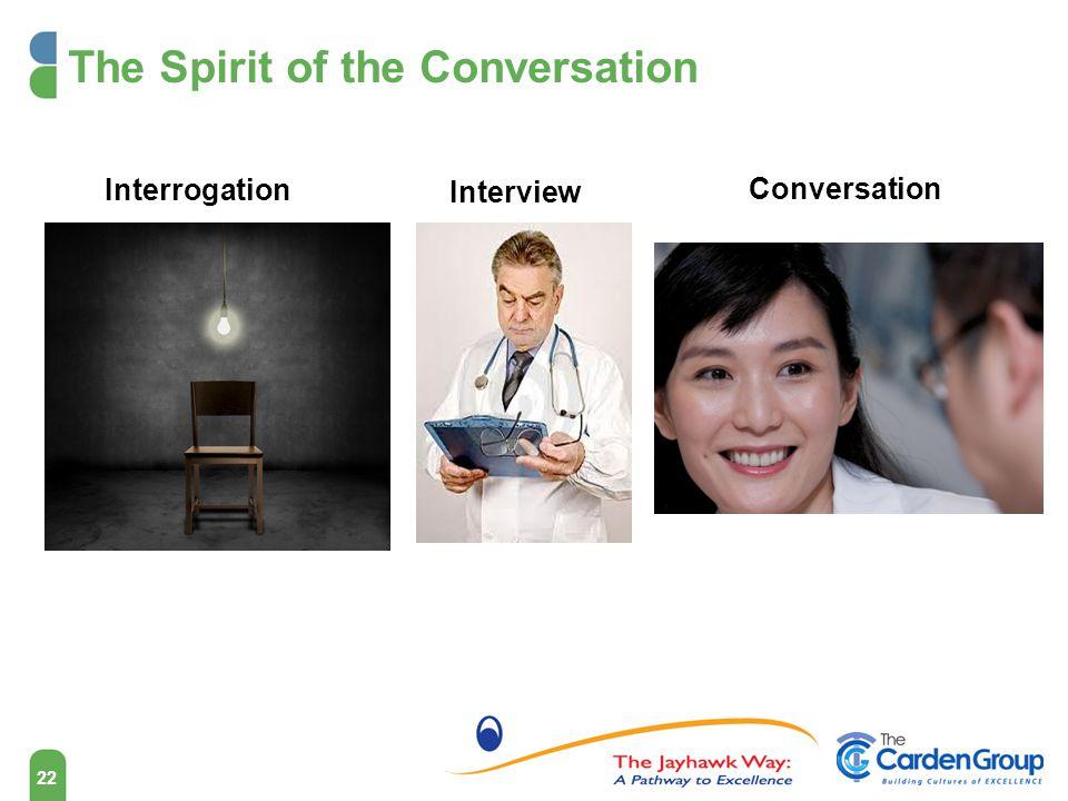 The Spirit of the Conversation Interrogation Interview Conversation 22