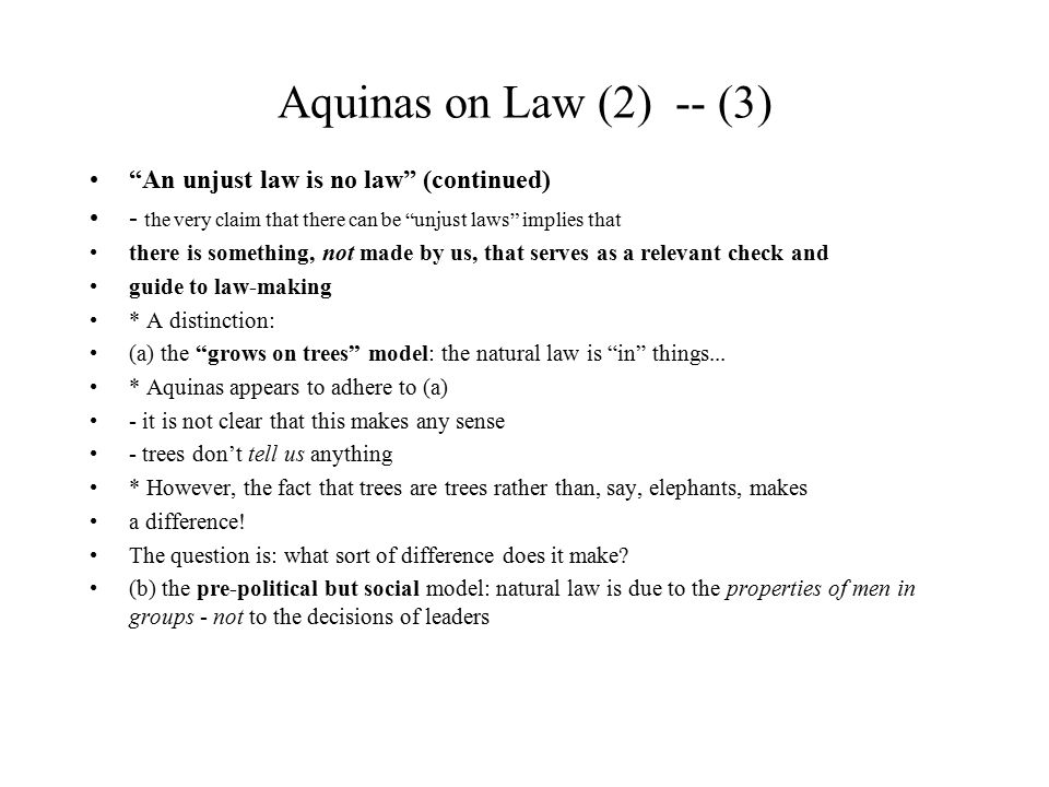 Aquinas on Law (2) -- (14) The Letter of the Law: Is it binding.