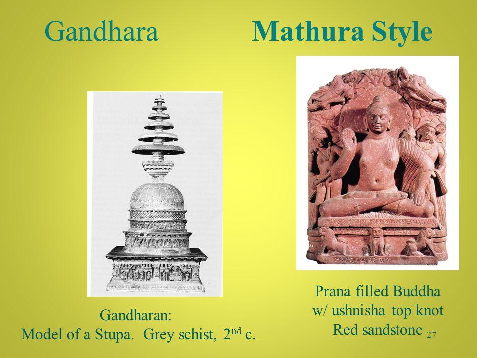 Kushan controlled Gandhara: Gandhara Style 26 Shows W->E Greco-Roman influence.