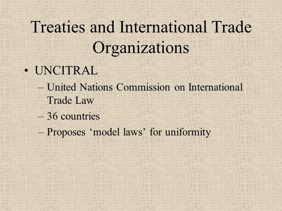 International Law Principles Repatriation –Some nations limit repatriation –Acts of state Forum non conveniens –Cases must be brought under the correct jurisdiction