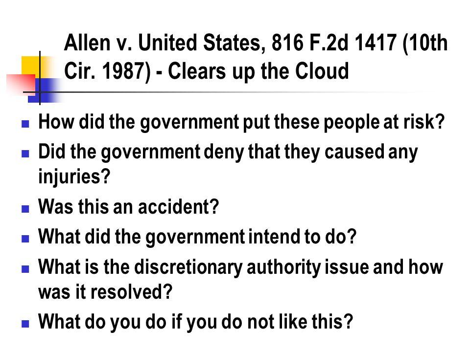 Allen v. United States, 816 F.2d 1417 (10th Cir.