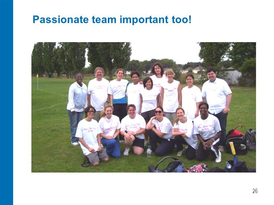 Passionate team important too! 26