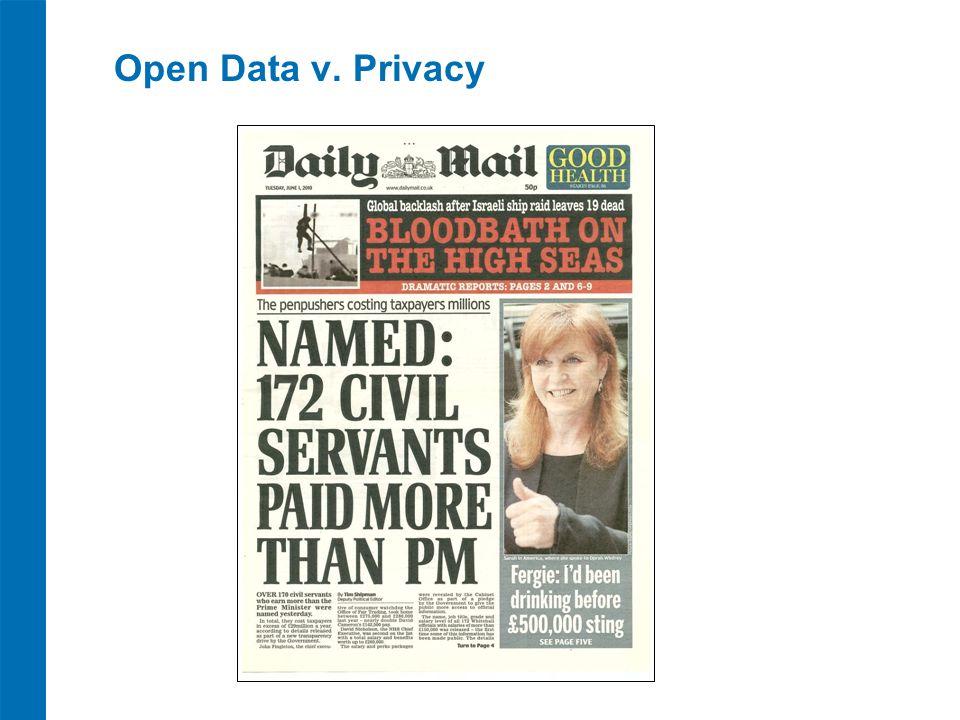 Open Data v. Privacy