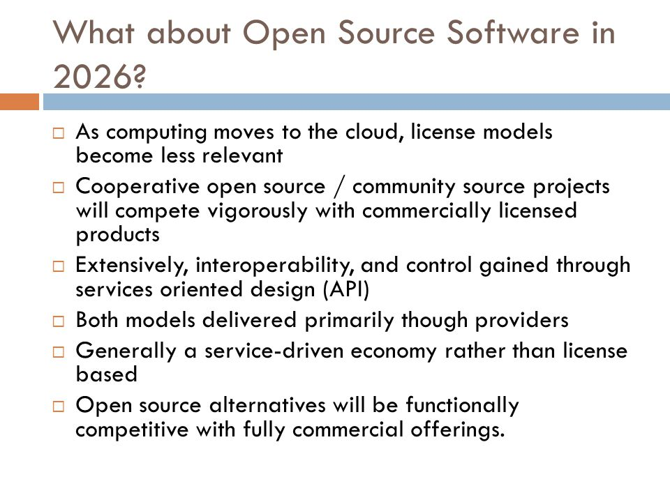 What about Open Source Software in 2026.