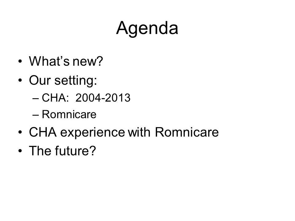Agenda What's new.