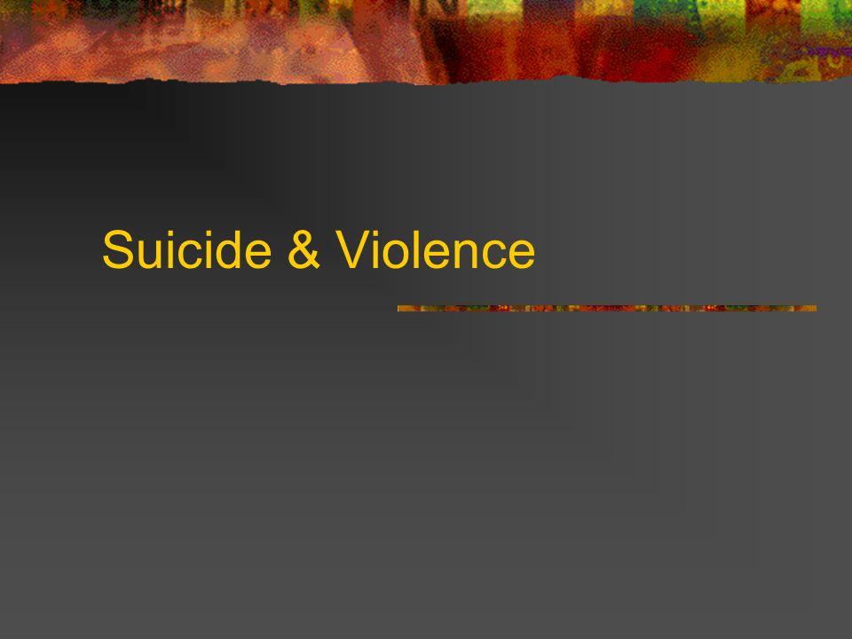 Suicide & Violence