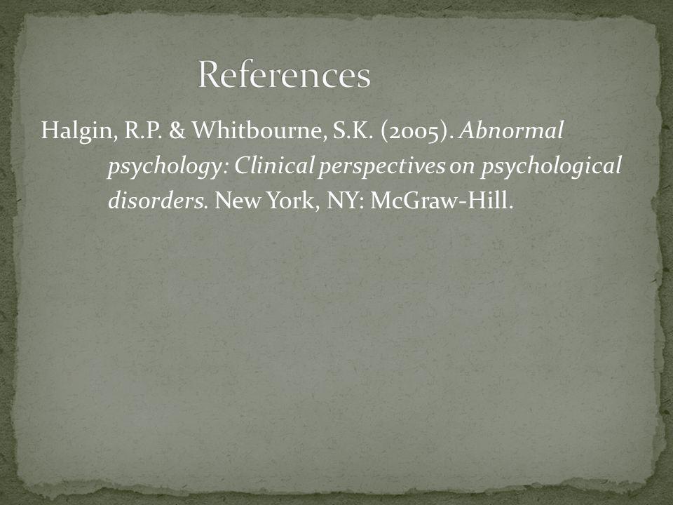 Halgin, R.P. & Whitbourne, S.K. (2005).