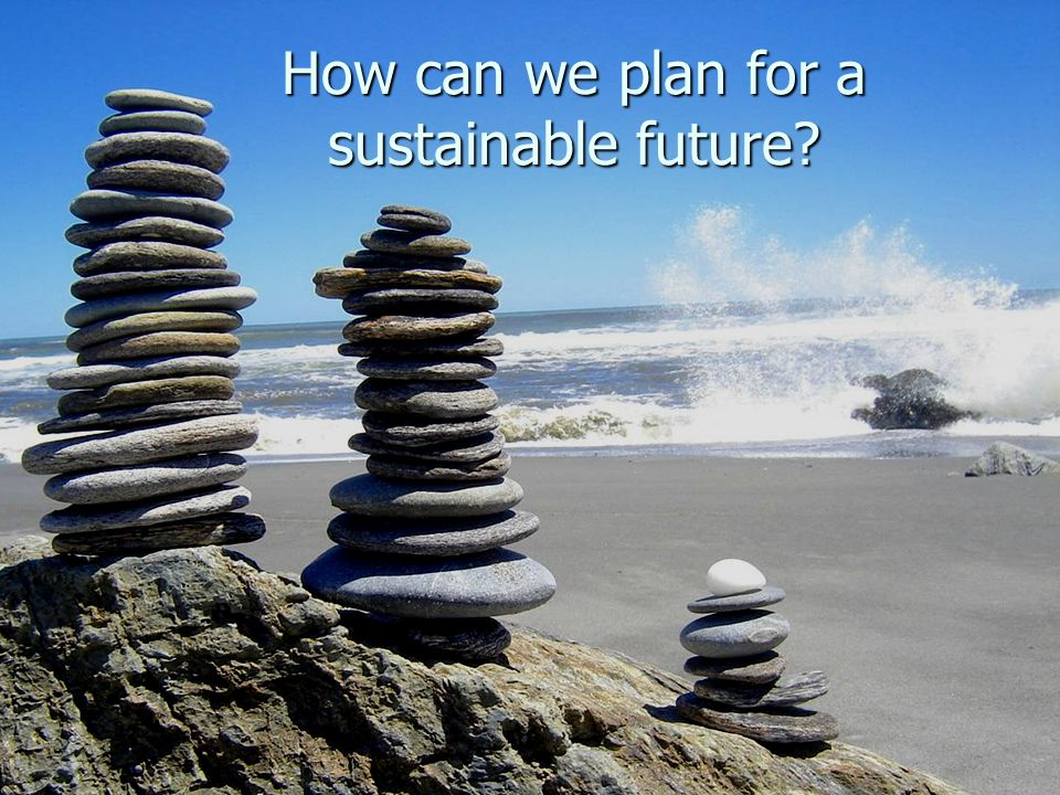 How can we plan for a sustainable future