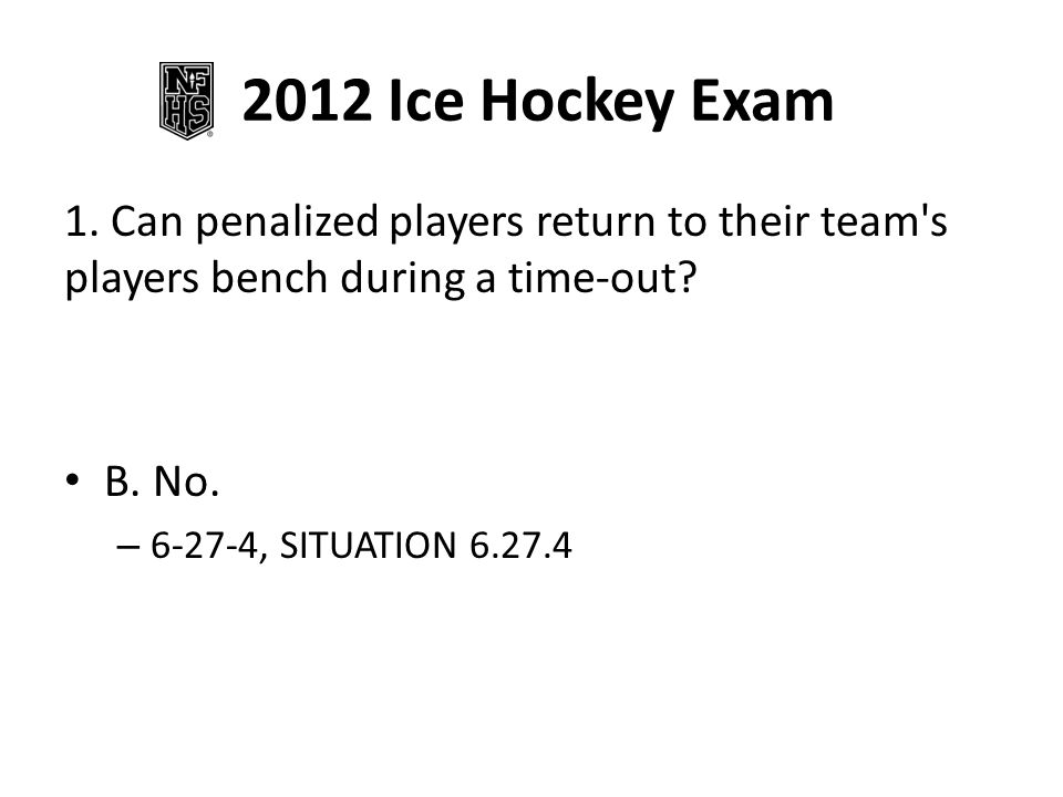 2012 Ice Hockey Exam 1.