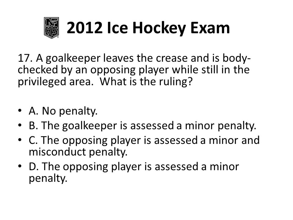2012 Ice Hockey Exam 17.
