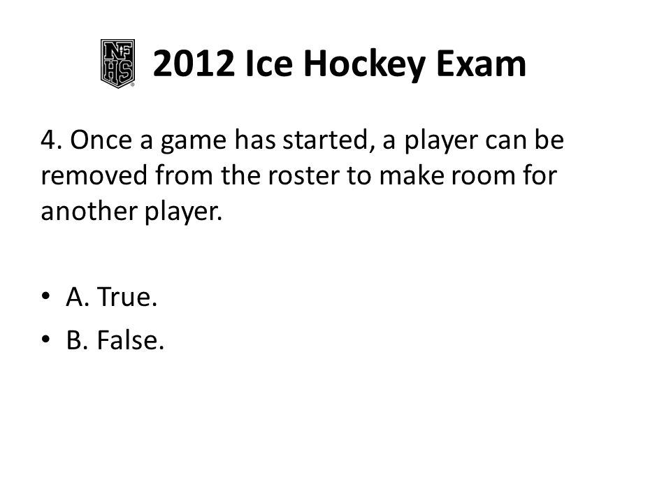 2012 Ice Hockey Exam 4.