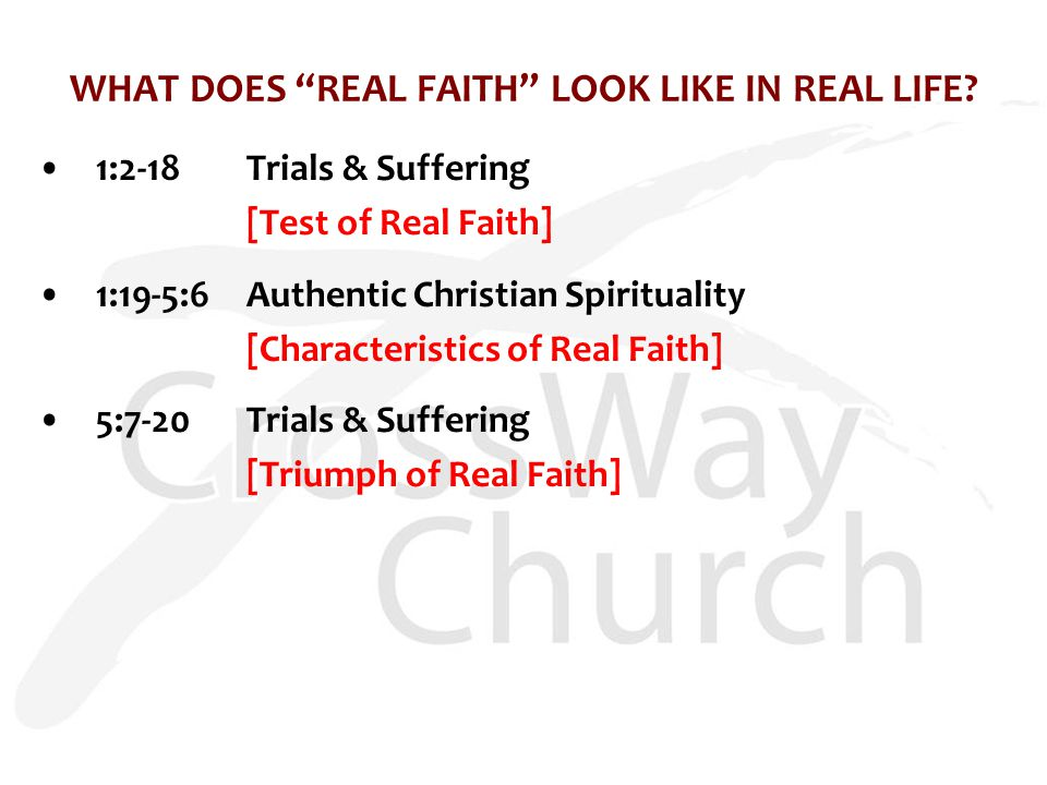 WHAT DOES REAL FAITH LOOK LIKE IN REAL LIFE.