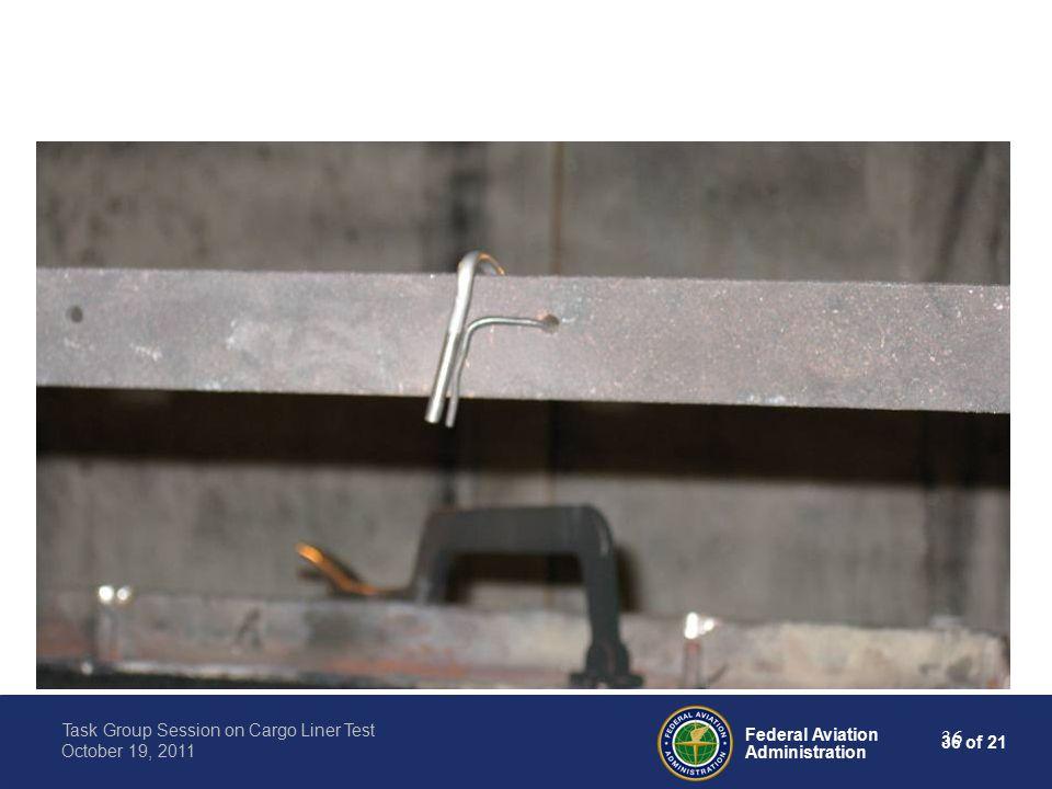 36 of 21 Federal Aviation Administration Task Group Session on Cargo Liner Test October 19, 2011 36