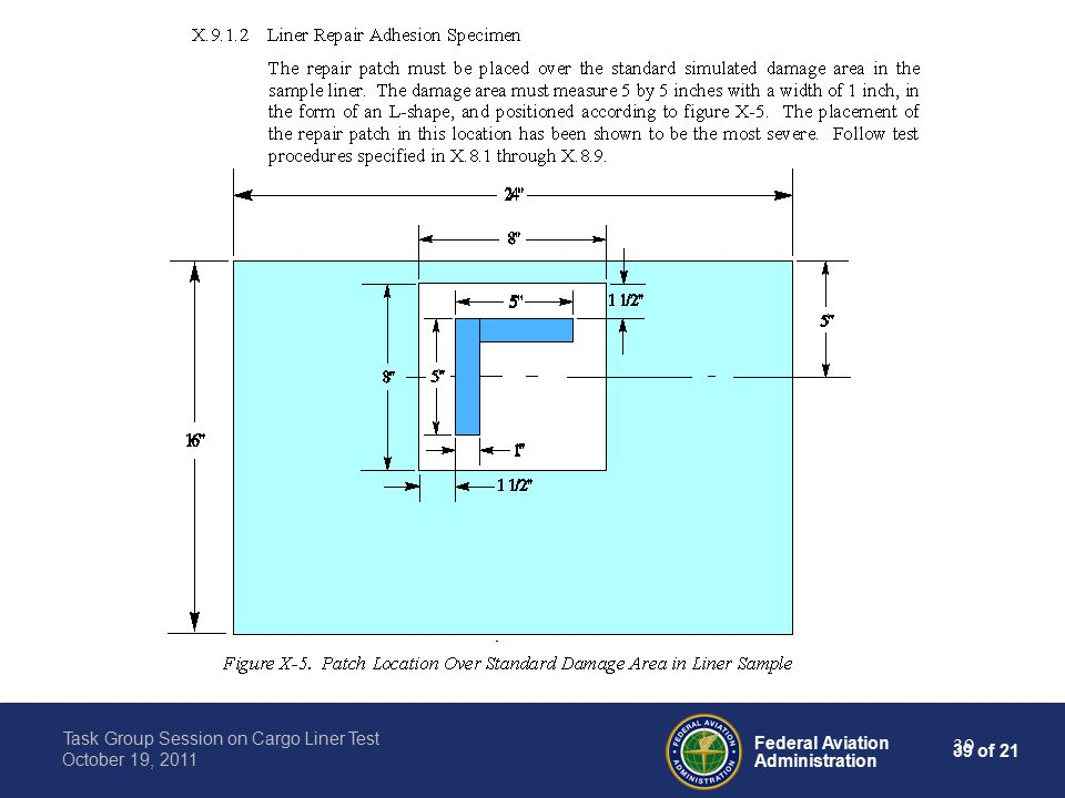39 of 21 Federal Aviation Administration Task Group Session on Cargo Liner Test October 19, 2011 39