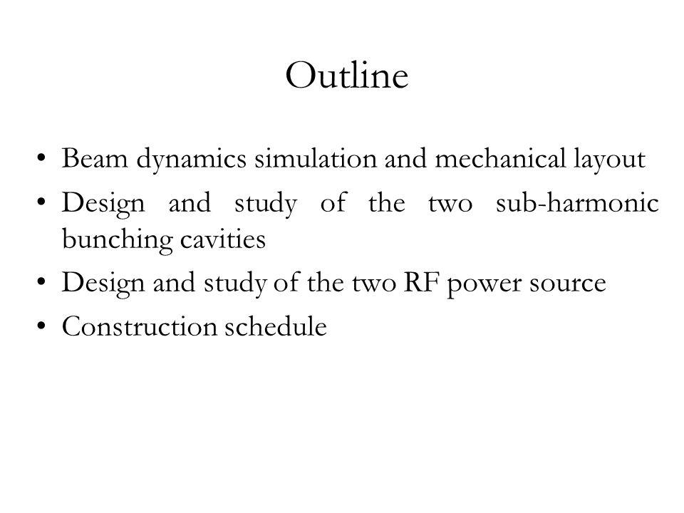 Beam dynamics simulation and mechanical layout (1)