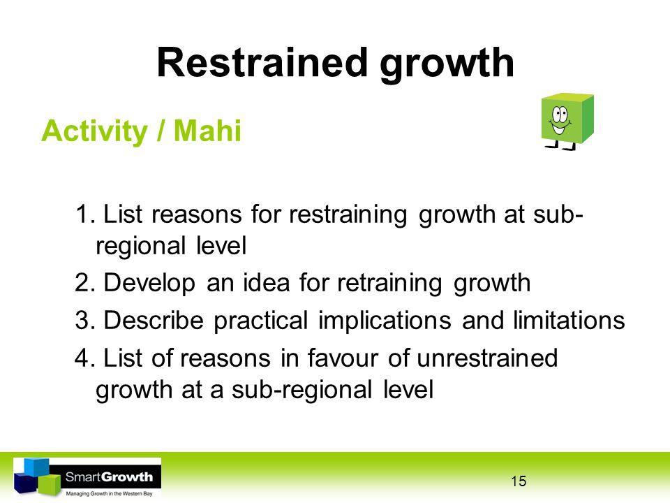 15 Restrained growth Activity / Mahi 1.