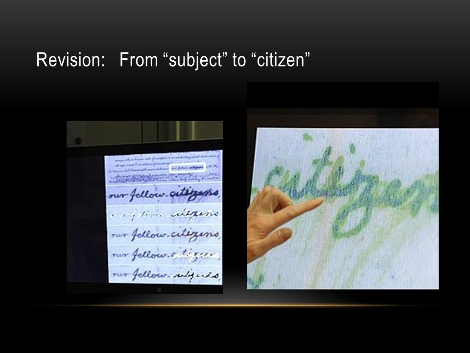 "Revision: From ""subject"" to ""citizen"""