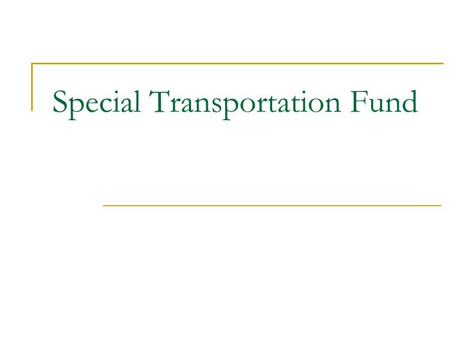Special Transportation Fund