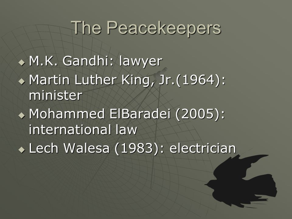 The Peacekeepers  M.K.