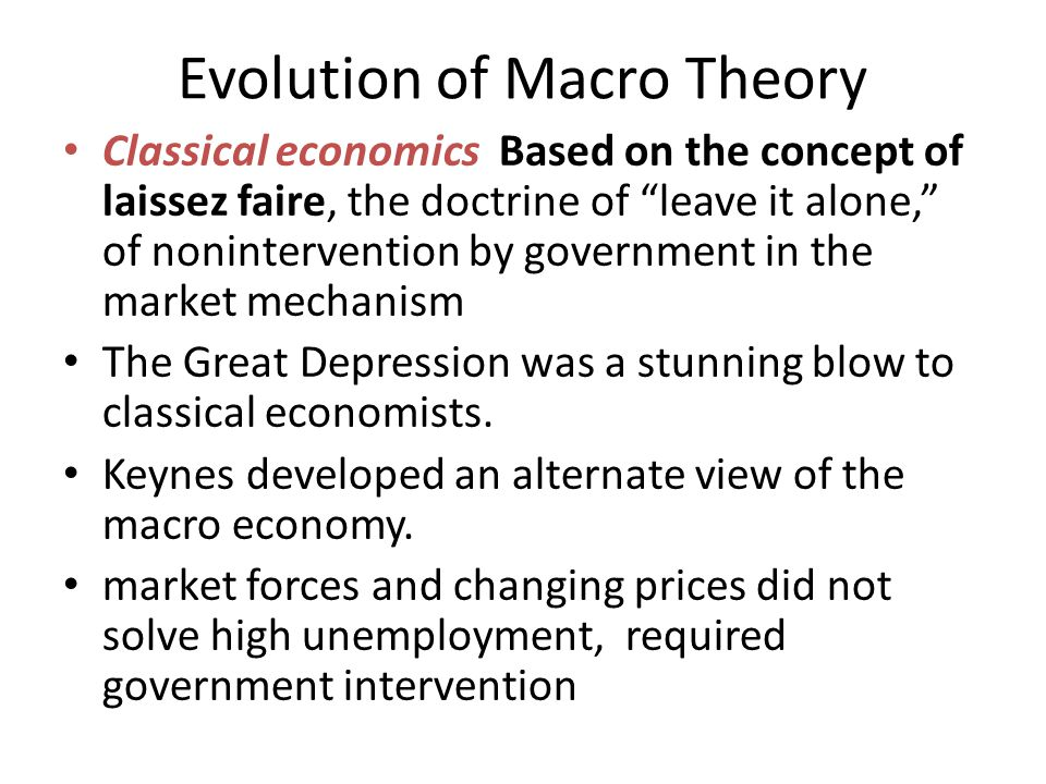 Evolution of Macro Theory cont.