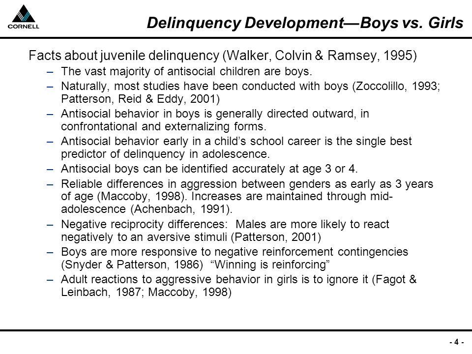 - 4 - Delinquency Development—Boys vs.