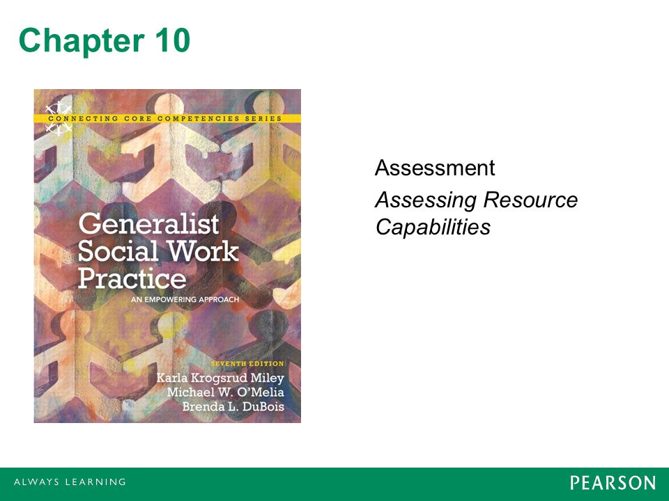 Chapter 10 Assessment Assessing Resource Capabilities