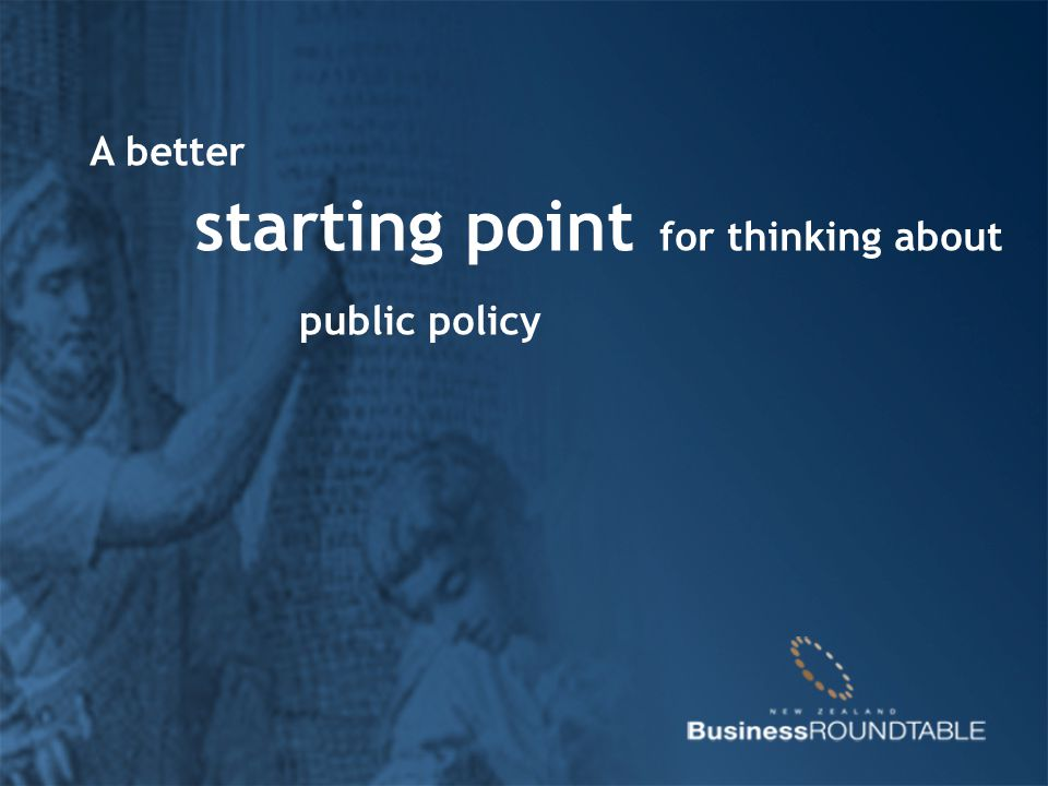 A better starting point for thinking about public policy