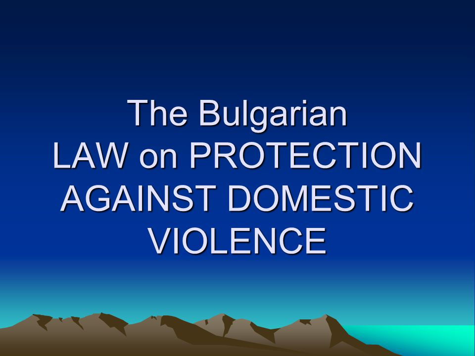 The Need for Amendments - II Some particularly dangerous acts of DV – the use of weapon, DV against disabled; Criminal responsibility for violation and disobedience of the Order; Changes in the Criminal Law – art.