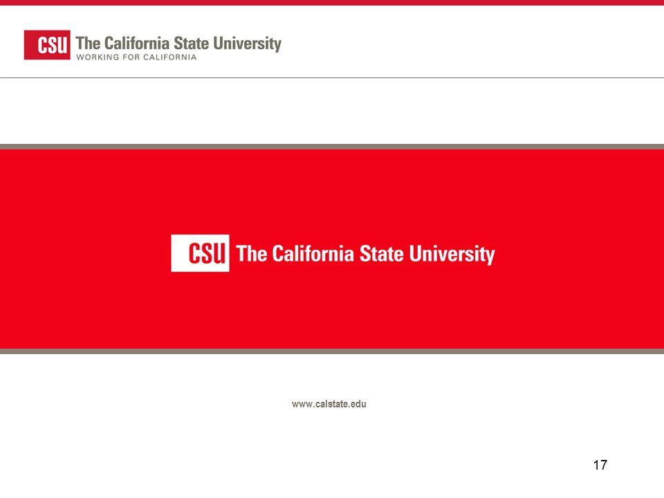 17 www.calstate.edu