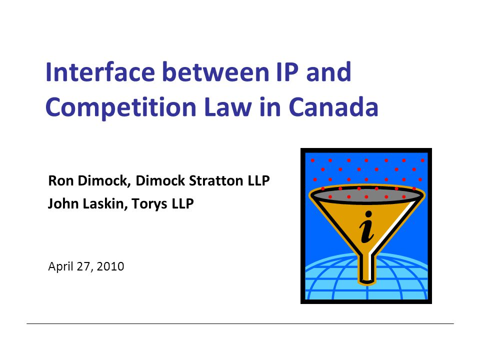 1 Agenda  Objectives and Key Features of IP Law  Objectives and Key Features of Competition Law  Patented Medicines - Reverse Payments  Licensing Agreements