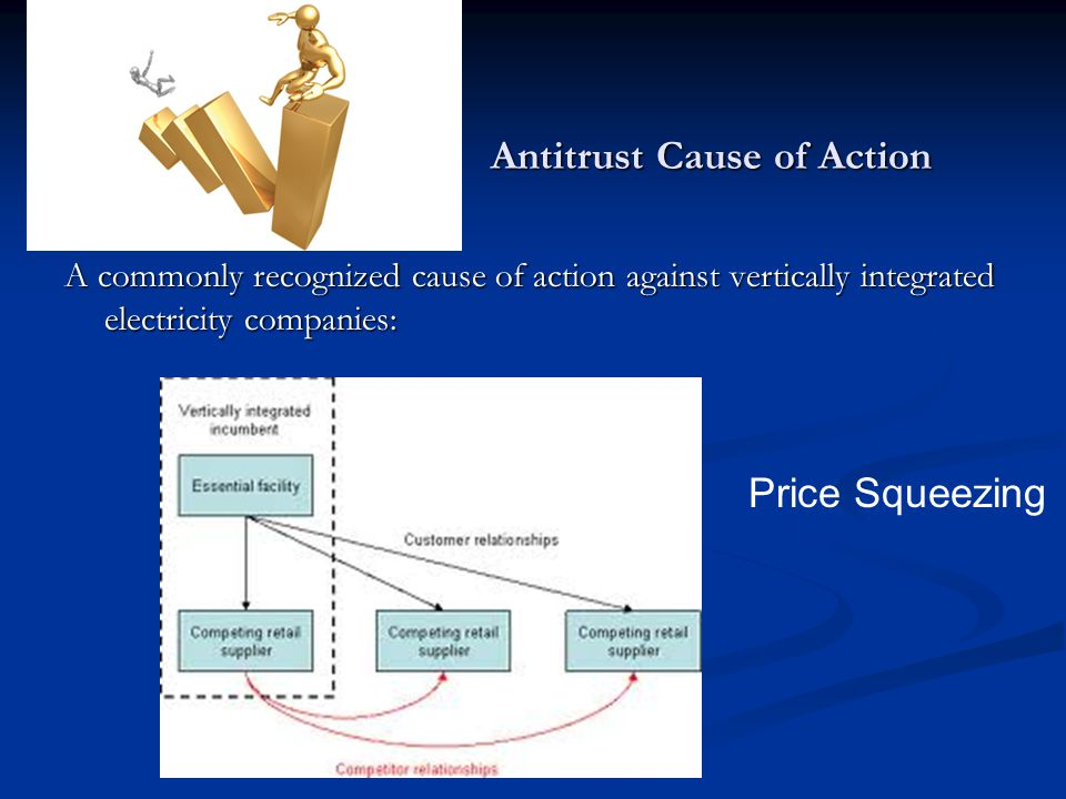 Antitrust Cause of Action A commonly recognized cause of action against vertically integrated electricity companies: Price Squeezing