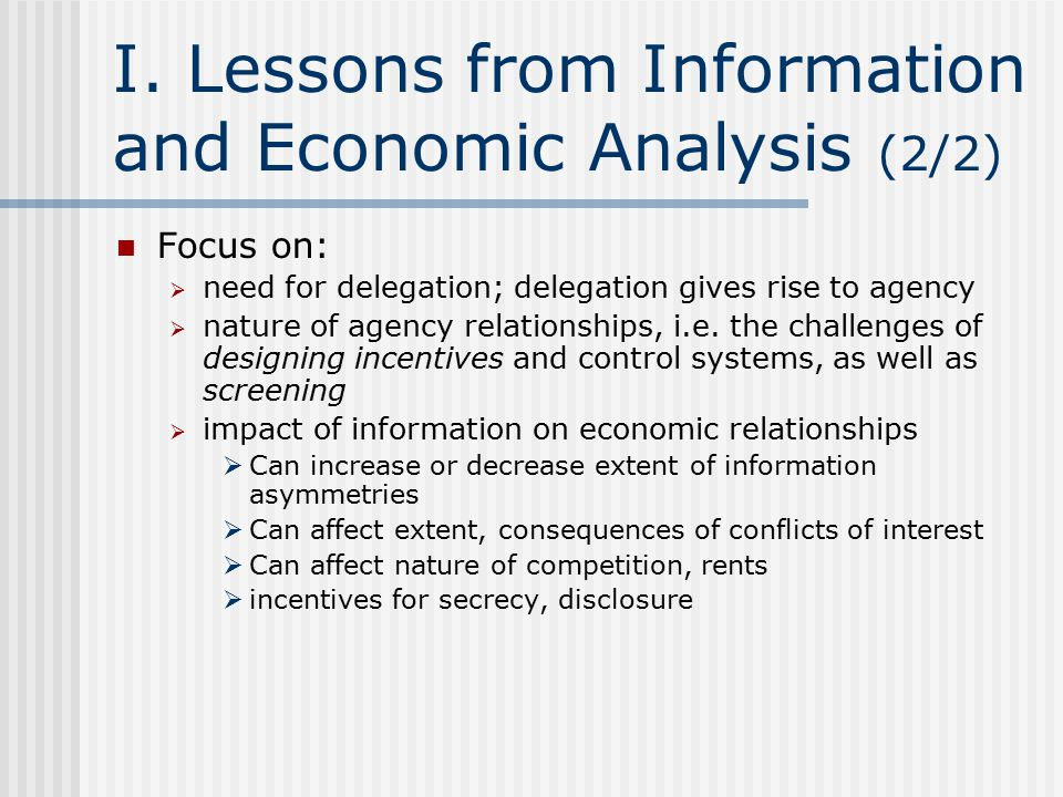 The Uses of Secrecy (1/4) Economics: incentives not only to discover and reveal information, but also to hide information  To hide failures, incompetence: limiting ability to screen Economics: incentives to limit competition, e.g.