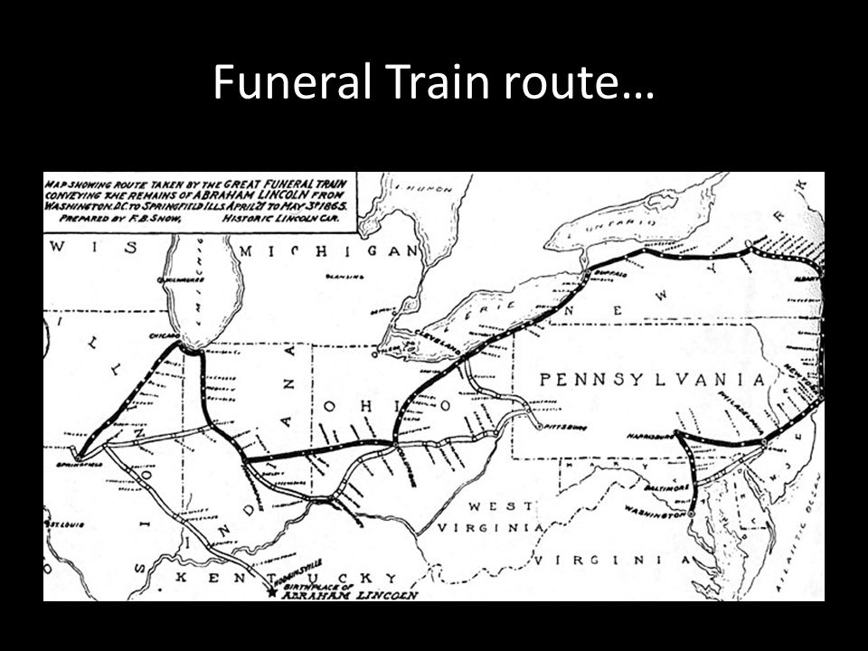 Funeral Train route…
