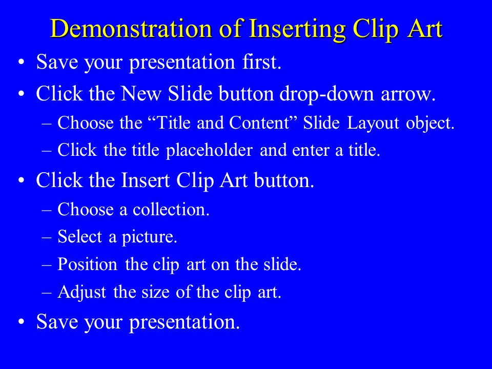 Steps for Creating a Simple Slide Show Open a new presentation. Select a Design Template (Design tab). Create a title slide. Create several multi-leve