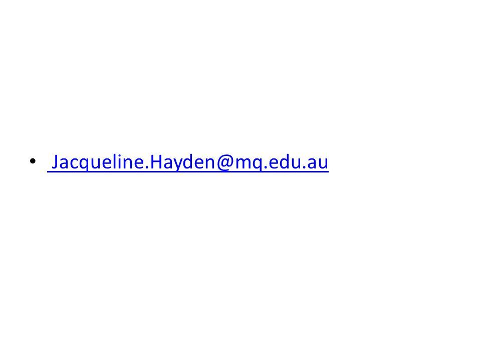 Jacqueline.Hayden@mq.edu.au
