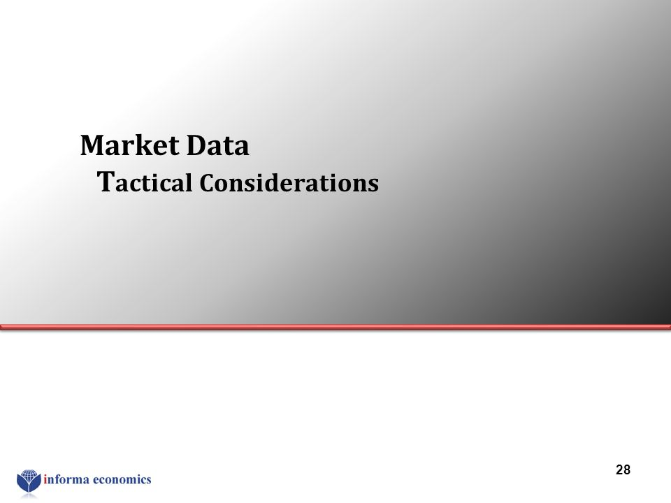 Market Data T actical Considerations 28