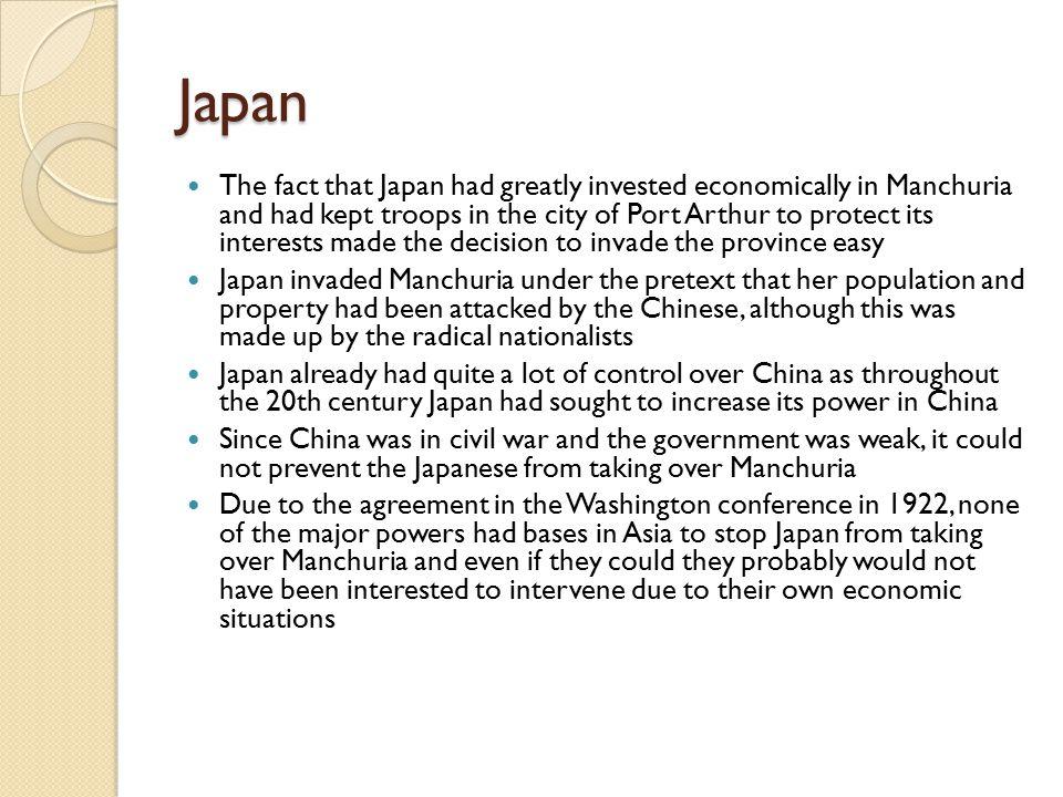 1931 Japanese invasion of Manchuria Sept.