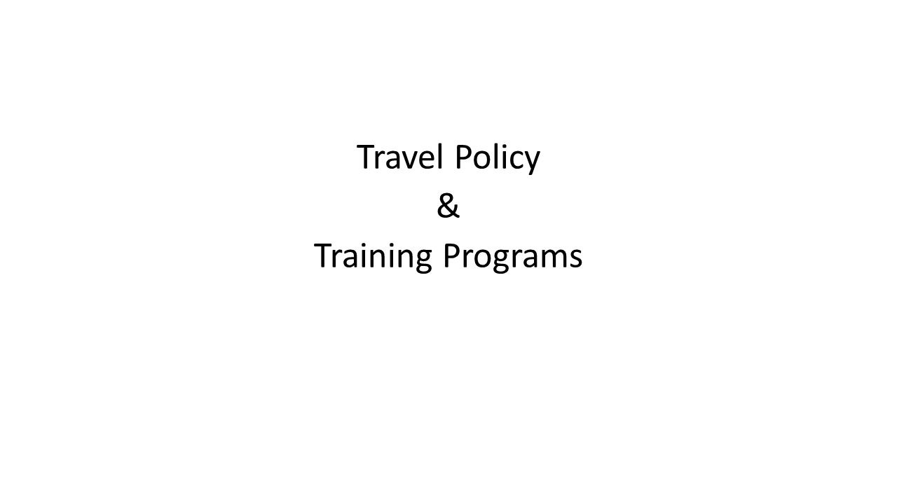 Travel Policy & Training Programs