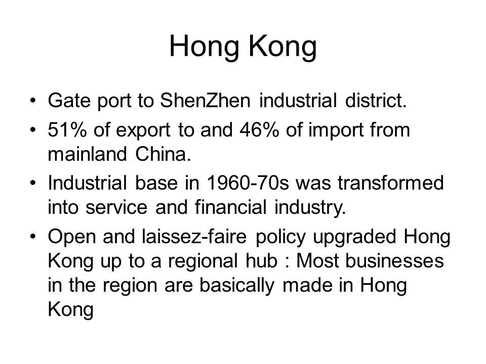 Hong Kong Gate port to ShenZhen industrial district.