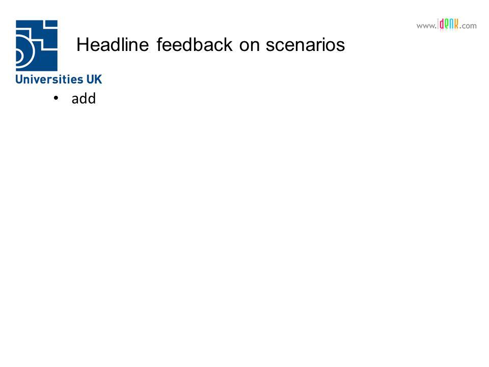 Headline feedback on scenarios add