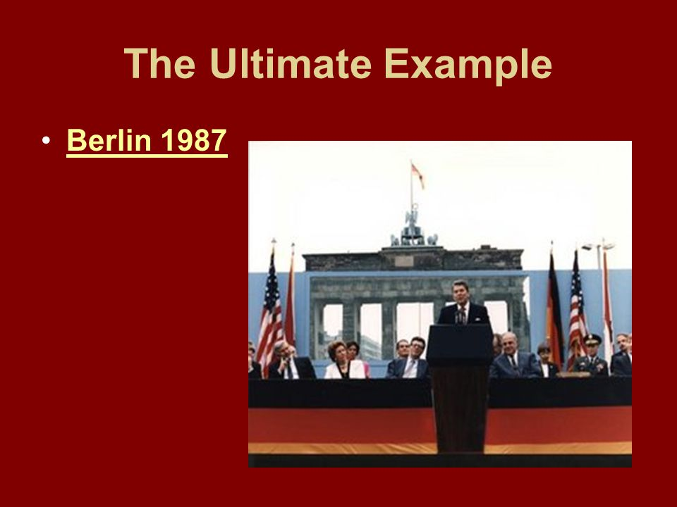 The Ultimate Example Berlin 1987