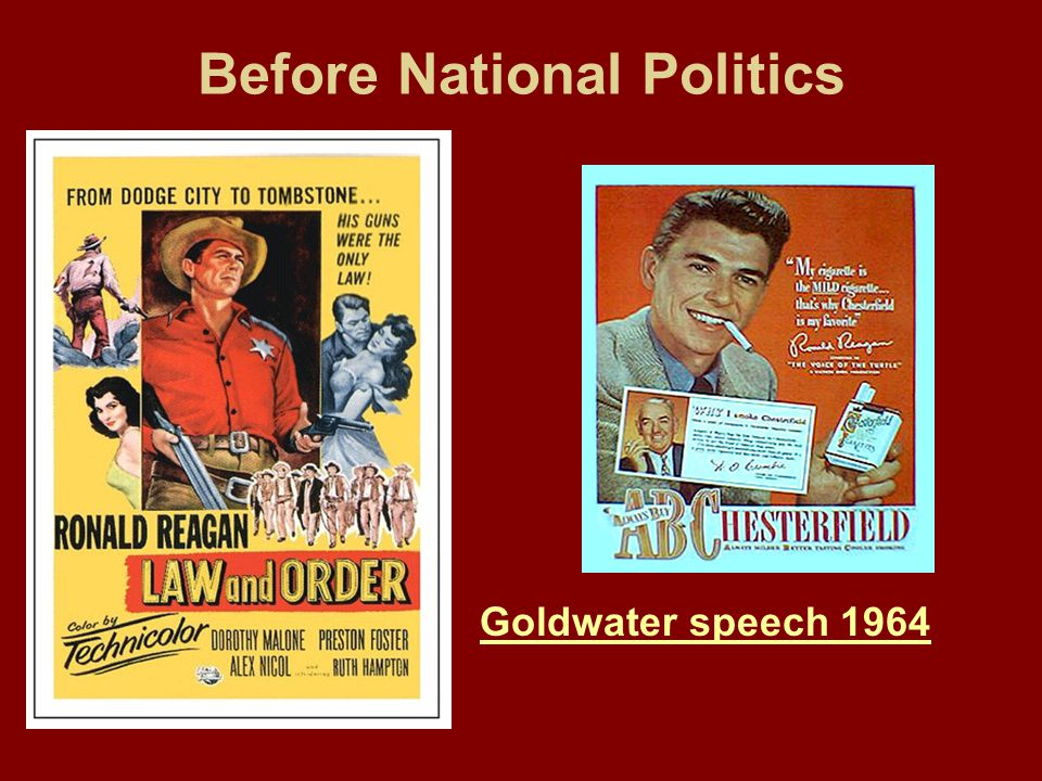 Before National Politics Goldwater speech 1964