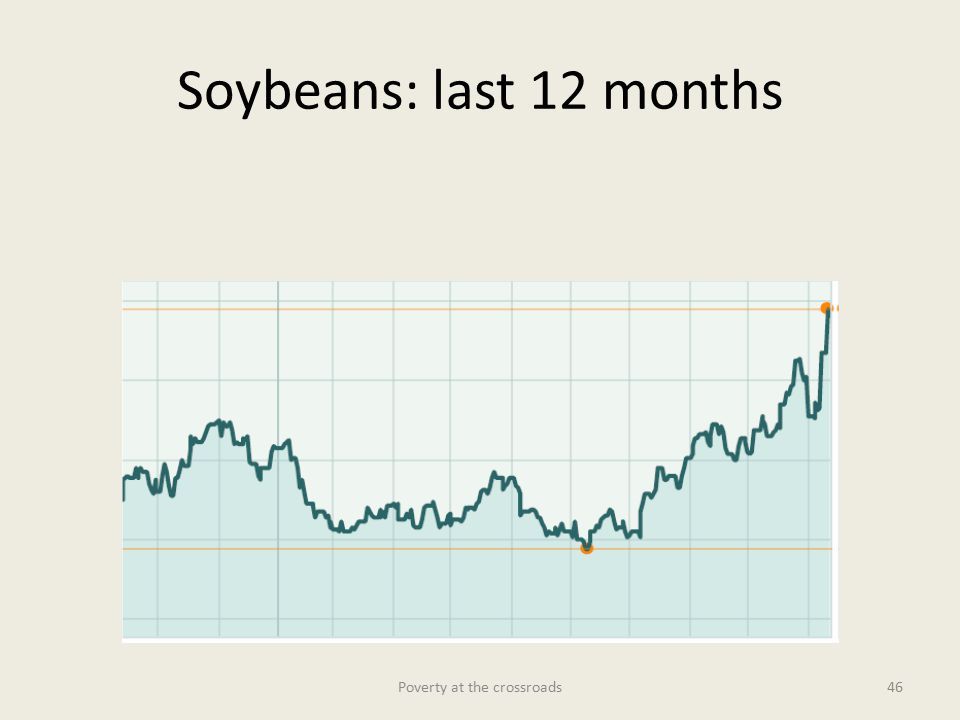 Soybeans: last 12 months Poverty at the crossroads46