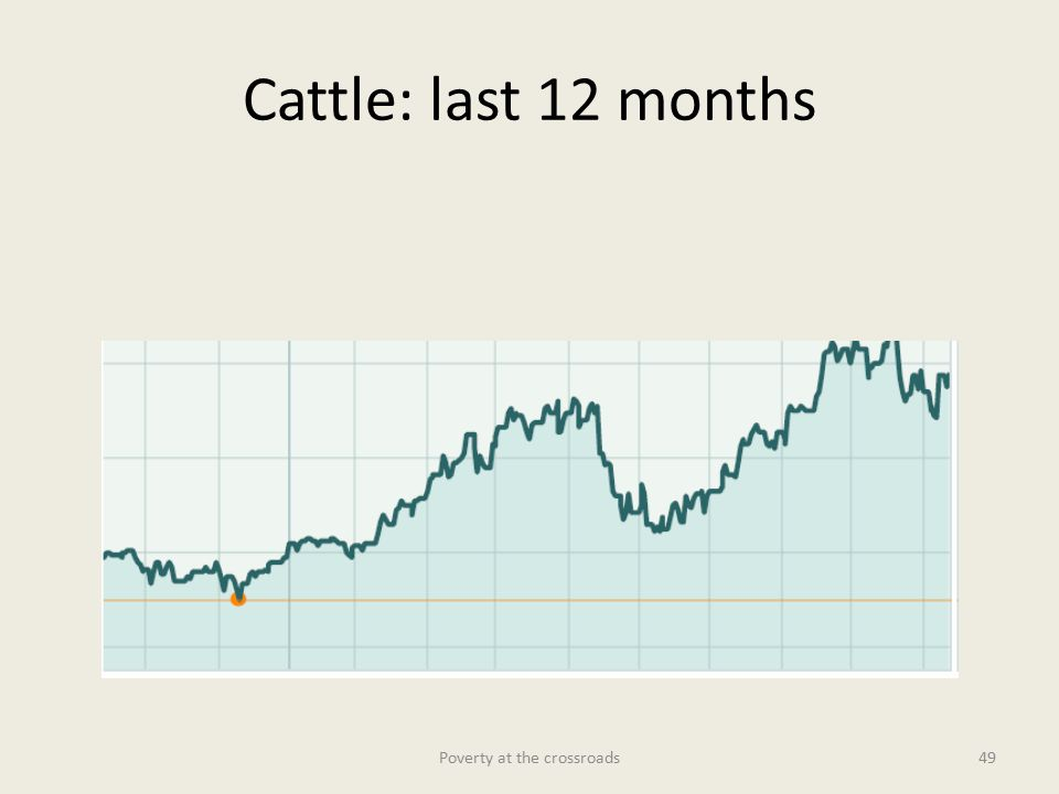Cattle: last 12 months Poverty at the crossroads49